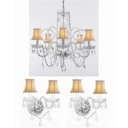 Harrison Lane 3 Piece Crystal Chandelier and Wall Sconces Lighting Set