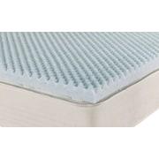 Brooklyn Bedding iPedic Convoluted 3'' Plush Gel Memory Foam Topper; King