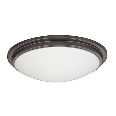 Dolan Designs Recesso Semplice 11.25'' Glass Fan Bowl Shade; Warm Bronze