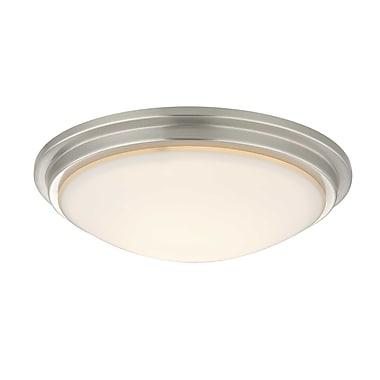 Dolan Designs Recesso Semplice 11.25'' Glass Fan Bowl Shade; Satin Nickel