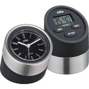 Frieling 2 Piece Digital Kitchen Timer and Clock Set; Black