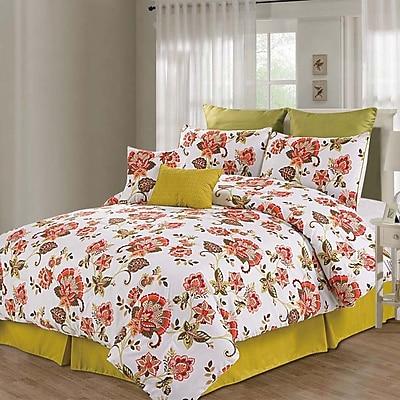 Luxury Home Berkeley 8 Piece Comforter Set; King