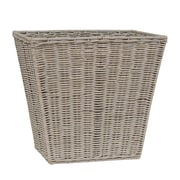 LaMont Rattan Trash Can; Greywash