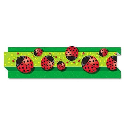CARSON-DELLOSA PUBLISHING Ladybugs Pop-It Border and 8 Strips/Pack Classroom Border WYF078276936445