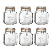 Global Amici Gourmet Kitchen Canister Set (Set of 6); 58 oz.