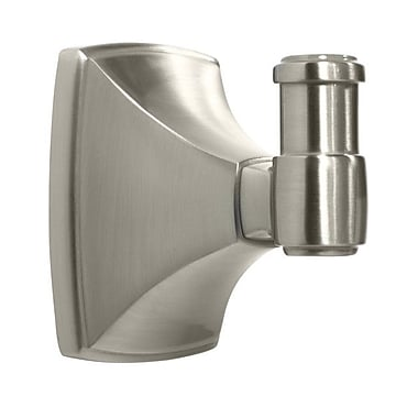 Amerock Clarendon Wall Mounted Robe Hook; Satin Nickel