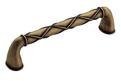 Amerock Lattice 5'' Center Bar Pull; Distressed Brass