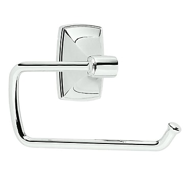 Amerock Clarendon Wall Mounted Toilet Paper Holder; Polished Chrome