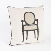 Saro Petite Chaise Chair Design Throw Pillow
