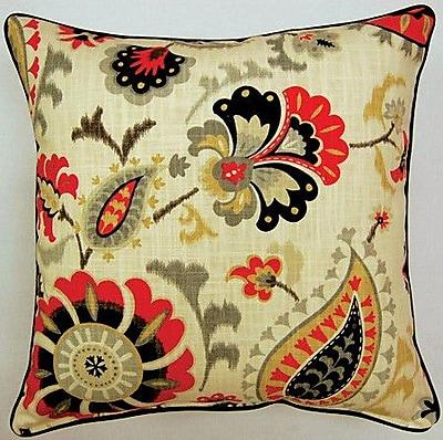 Creative Home Siren Song Corded Cotton Throw Pillow (Set of 2); Graphite