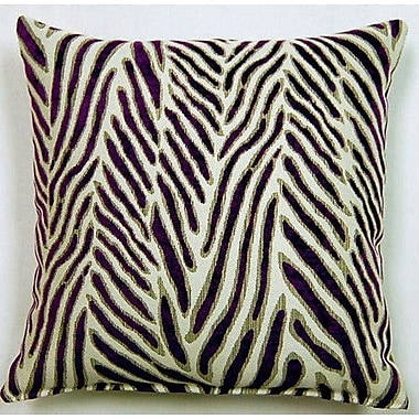 Creative Home Canal Knife Edge Throw Pillow (Set of 2); Purple