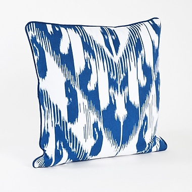 Saro Kazhdam Ikat Design Cotton Throw Pillow