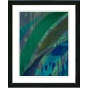 Studio Works Modern ''Cinnabar - Aqua'' by Zhee Singer Framed Painting Print; Creamy White