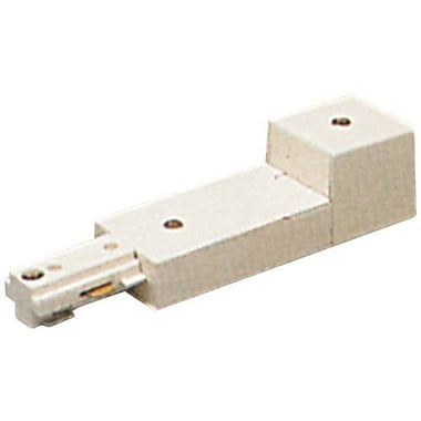 PLC Lighting End Power Feed Circuit; White / Two