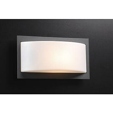 PLC Lighting Breda 1-Light Outdoor Flush Mount; Bronze