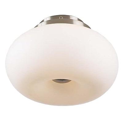 PLC Lighting Tessera Semi Flush Mount; 7'' H x 11'' W