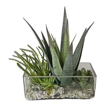 Creative Branch Faux Succulents in Decorative Vase