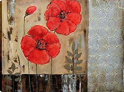 Hobbitholeco. Geometric Floral I by Tina O. Painting on Wrapped Canvas