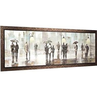Hobbitholeco. City Walk II by Anastasia Framed Painting on Wrapped Canvas