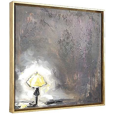 Hobbitholeco. Waiting for a Bus by Heather Sinnott Framed Painting on Wrapped Canvas