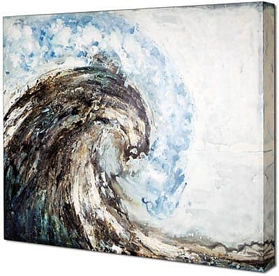Hobbitholeco. High Wave by Tina O. Painting on Wrapped Canvas