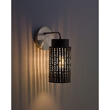 WPT Design Secola 1-Light Wall Sconce; Stainless Steel