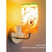 WPT Design Whitney 1-Light Wall Sconce; Stainless Steel