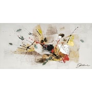 Hobbitholeco. Abstract w/ Leaves by Jamie Painting on Wrapped Canvas
