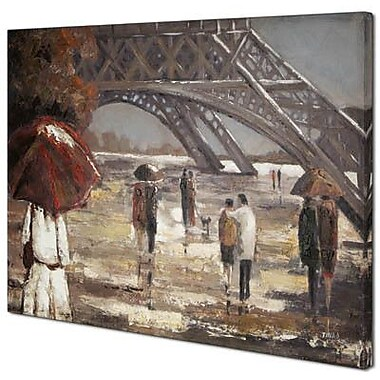 Hobbitholeco. Walk by the Eiffel Tower II by Tina O. Painting on Wrapped Canvas