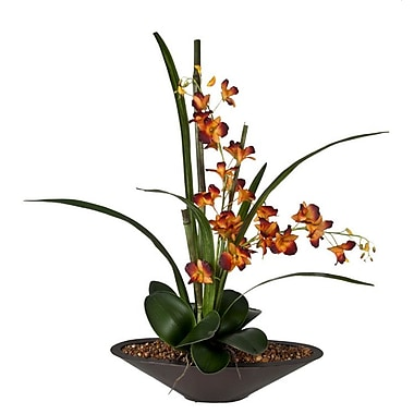 Creative Branch Rust Orchids in Planter
