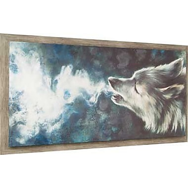 Hobbitholeco. Wolf by Lori Dell Framed Painting Print on Wrapped Canvas