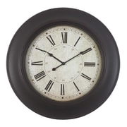 Decor Therapy Oversized 24'' Roman Woodgrain Wall Clock
