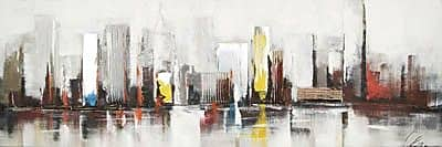 Hobbitholeco. City by Claudia Painting on Wrapped Canvas
