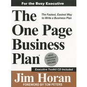 "One-Page Business Plan Company ""The One-Page Business Plan"" Book"