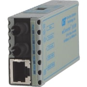 Omnitron miConverter 10/100 ST Single-Mode 30 Km US AC Powered Ethernet Media Converter