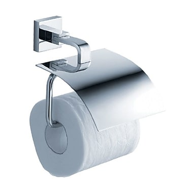 Kraus Aura Wall Mount Toilet Paper Holder w/ Cover; Chrome