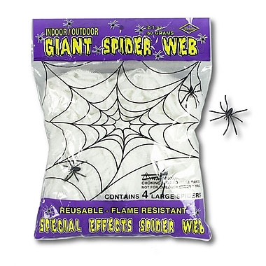 Flame Resistant Giant Spider Web Bag Contains 2.1 Ounces and 2