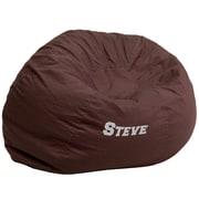 Flash Furniture – Siège-sac en croisé de coton brodé surdimensionné solide