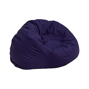 Flash Furniture Cotton Twill Small Solid Kids Bean Bag Chair, Navy Blue