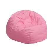 Flash Furniture Cotton Twill Small Solid Kids Bean Bag Chair, Light Pink