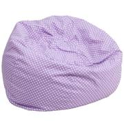 Flash Furniture Cotton Twill Oversized Dot Bean Bag Chair, Lavender