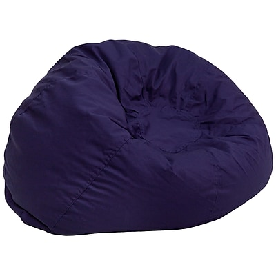 Flash Furniture Twill Cotton Bean Bag Chair, Navy Blue (DGBEANLGSLDBL)