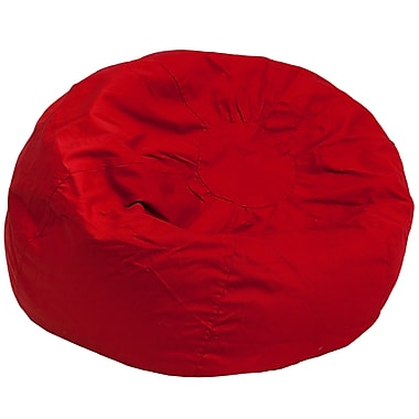 Flash Furniture Twill Cotton Bean Bag Chair, Red (DGBEANLGSLDRD)