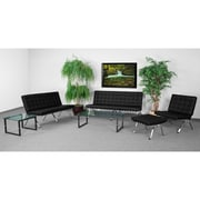 Flash Furniture Hercules Flash Steel Reception Set, Black (ZBFLASHSETBK)