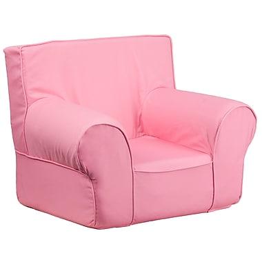 Flash Furniture – Fauteuil uni pour enfants, petit, croisé de coton, rose pâle