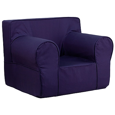 Flash Furniture Cotton Twill Oversized Solid Kids Chair, Navy Blue