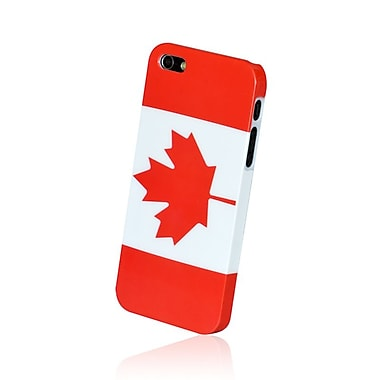 Gel Grip - Coque pour iPhone 5 à l'effigie du drapeau canadien