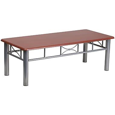 Flash Furniture – Table à café stratifiée avec cadre en acier argenté, 15 1/2 po