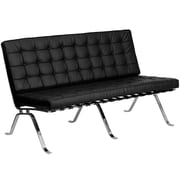 Flash Furniture Hercules Flash Steel Loveseat, Black (ZBFLC801LSBK)