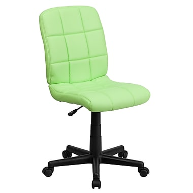 Flash Furniture – Chaise de bureau GO-1691-1-GREEN-GG en vinyle avec dossier mi-dos, vert